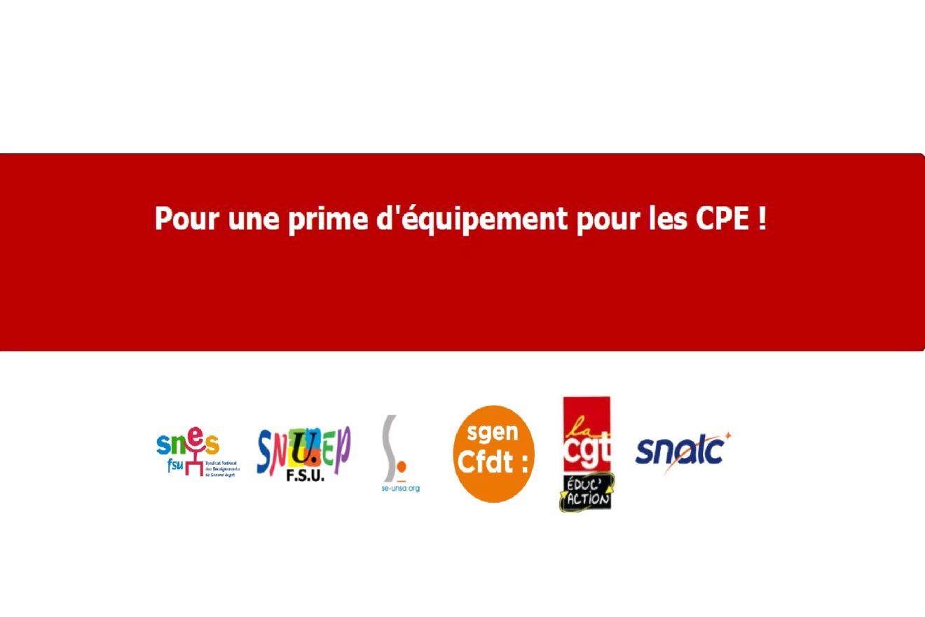 pétition prime CPE